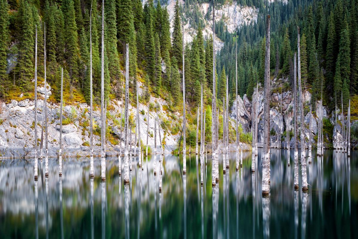 Fotoreise Kasachstan Lake Kaindy